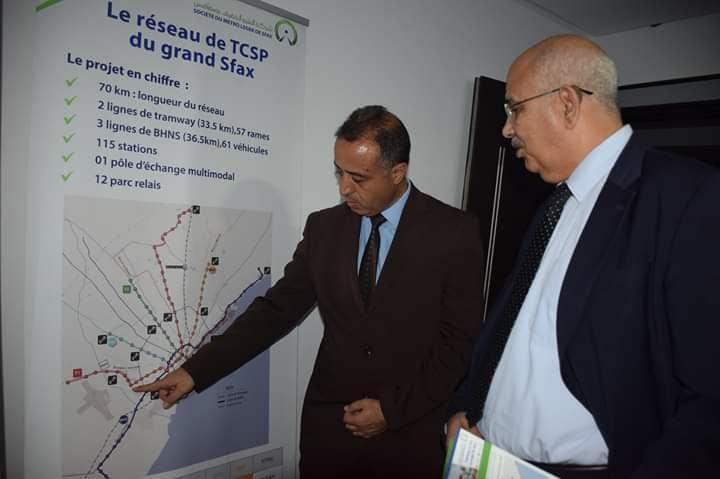 Réunion avec monsieur le gouverneur de Sfax: Avancement du projet